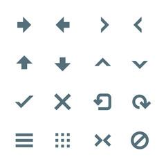 vector various navigation menu buttons icons set
