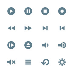 vector various various media player icons set