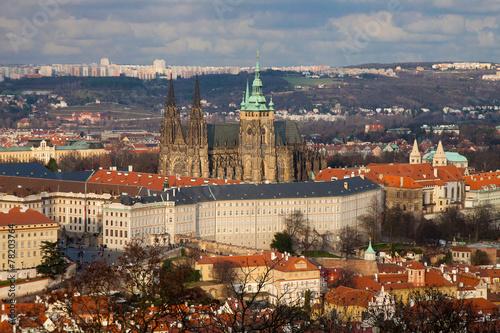 Staande foto Praag Bird eye view of Hradchany, Prague