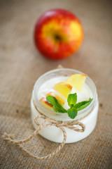 home sweet yogurt with apples
