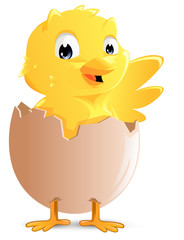 Standing easter chick