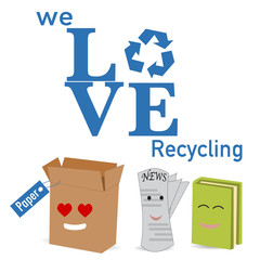 The paper recycle poster