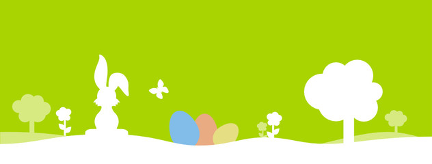 green colour eggs bunny background