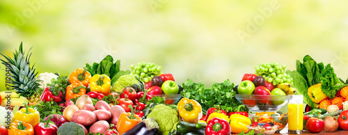 Foto Spatwand Eten Fruits and vegetables.