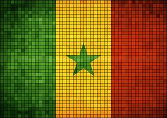Abstract mosaic flag of Senegal
