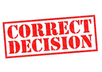 CORRECT DECISION