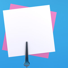 paper notes with clips