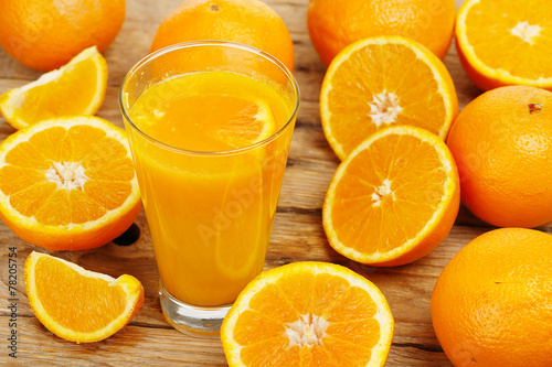 canvas print picture orange juice