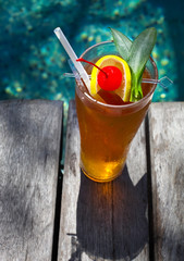 Cocktail near the swimming pool