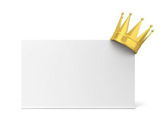 Royal crown card