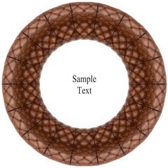 Retro  leather  circle texture