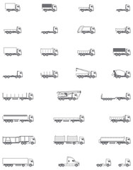 Vector trucks icons