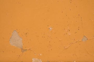Mark of paint scraper on wall