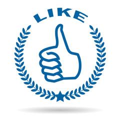 Like thumb symbol