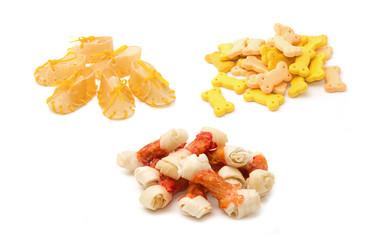 Dog Treats,dog food on white background