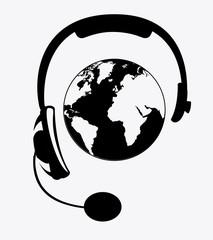 Headphone design, vector illustration.
