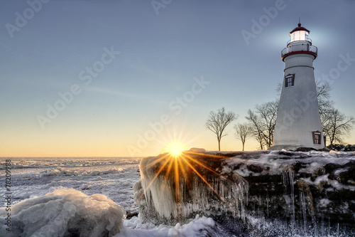 Marblehead Lighthouse Winter Sunrise - 78209988