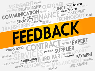 Feedback related items words cloud, business concept