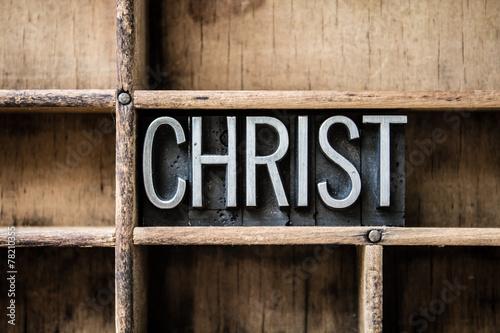 Plakát Christ Letterpress Type in Drawer