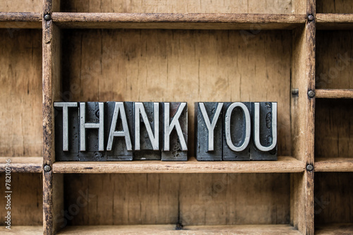 Thank You Letterpress Type in Drawer - 78210796