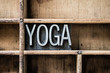 Yoga Letterpress Type in Drawer - 78210948
