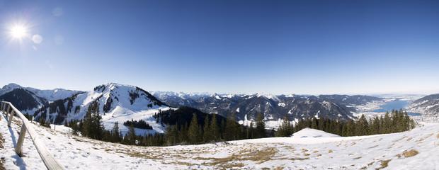 Alpenpanorama, vom Wallberg gesehen, Bayern