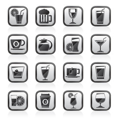 drinks and beverages icons  -vector icon set