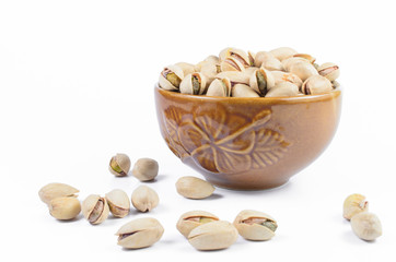 Pistachio nut in a bowl