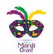 Bright vector carnival icons and sign Time to Mardi Gras! - 78213182