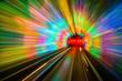 Leinwandbild Motiv Tunnel Motion Blur