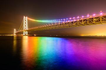 Kobe, Japan at the Akashi Kaikyo Ohashi (Pearl Bridge)