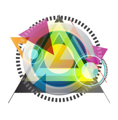 abstract art triangle background