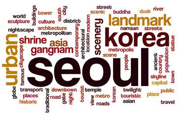 Seoul word cloud