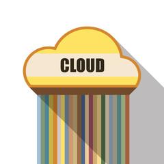 cloud symbol flat design
