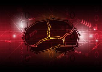 abstract digital brain communication