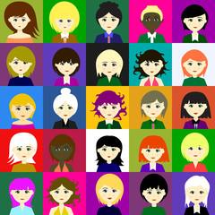 25 girls. Raster. 5 5
