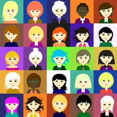25 girls. Raster. 4 4