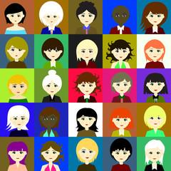 25 girls. Raster. 3 3 3
