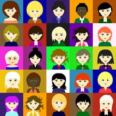25 girls. Raster. 2 2