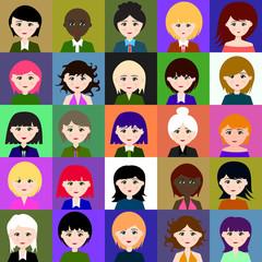 25 girls. Raster. 1 1 1