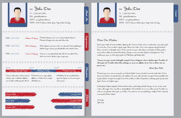 Hand written cv with cover letter