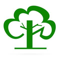 Logo green tree. Raster.