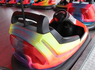 An Individual Dodgem Car on a Fun Fair Ride.