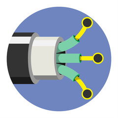 Optic cable icon. Vector illustration