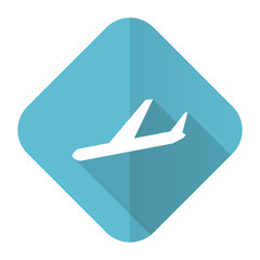 arrivals flat icon plane sign