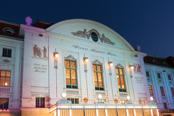 Wiener Konzerthaus bei Nacht