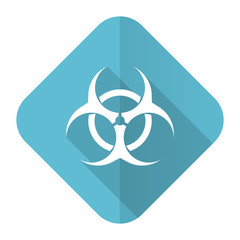 biohazard flat icon virus sign