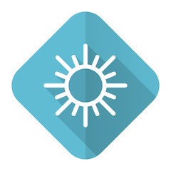 sun flat icon waether forecast sign