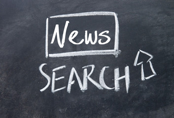 news search interface on blackboard