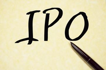IPO sign write on paper
